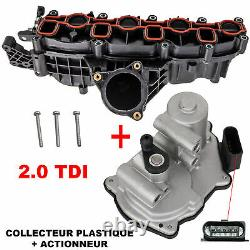Admission Collector + Engine Actuator For Vw Eos Golf Passat Tiguan 2.0 Tdi