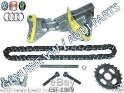 Audi A4 A6 Vw Golf Passat 2.0 Tdi Oil Pump Chain Tensioner Repair Kit Blb