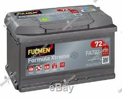 Battery 12v 72ah 720a Fulmen Fa722 Vw Golf V 1k1 1.9 Tdi 105bhp