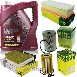 Engine Oil 5l Mannol 5w-30 Break LL - Mann-filter Vw Golf Plus 5m1 521 1.6 Tdi