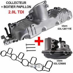 Engine Volet Admission Pipe Collector Beetle Golf Passat Tiguan 2.0 Tdi