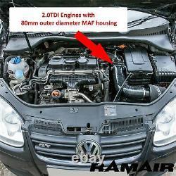 Ramair Air Heat Filter Shield Admission Kit Golf Mk5/mk6 1.9 - 2.0 Tdi