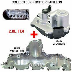 Actionneur de Volet + Collecteur admission Air VW GOLF PASSAT TIGUAN 2,0 TDI