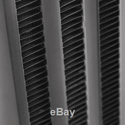 Black Side Mount Intercooler Smic Aluminium Pour Vw Golf Mk4 Bora 1.8t 1.9tdi