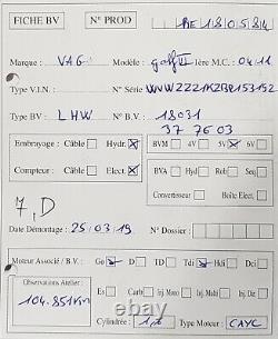 Boite 5 vitesses Golf VI 6 Leon Audi A3 1.6Tdi 90/105ch type LHW 104 851 km