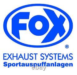 Fox Silencieux Inox Audi A3 1.6l 1.8l T 1.9l Tdi VW Golf I