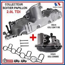 Moteur Volet Tubulure d'Admission Collecteur pour SEAT Leon Exeo 2,0 2,0L Tdi