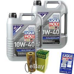 Révision Filtre Liqui Moly Huile 10L 10W-40 pour VW Golf IV 1J1 1.9 Tdi 1J5